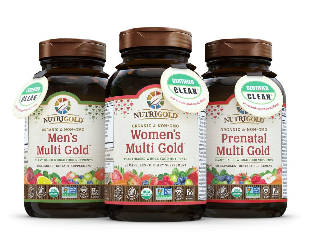 NutriGold's Multi Gold line of supplements has attained Certified C.L.E.A.N. status.