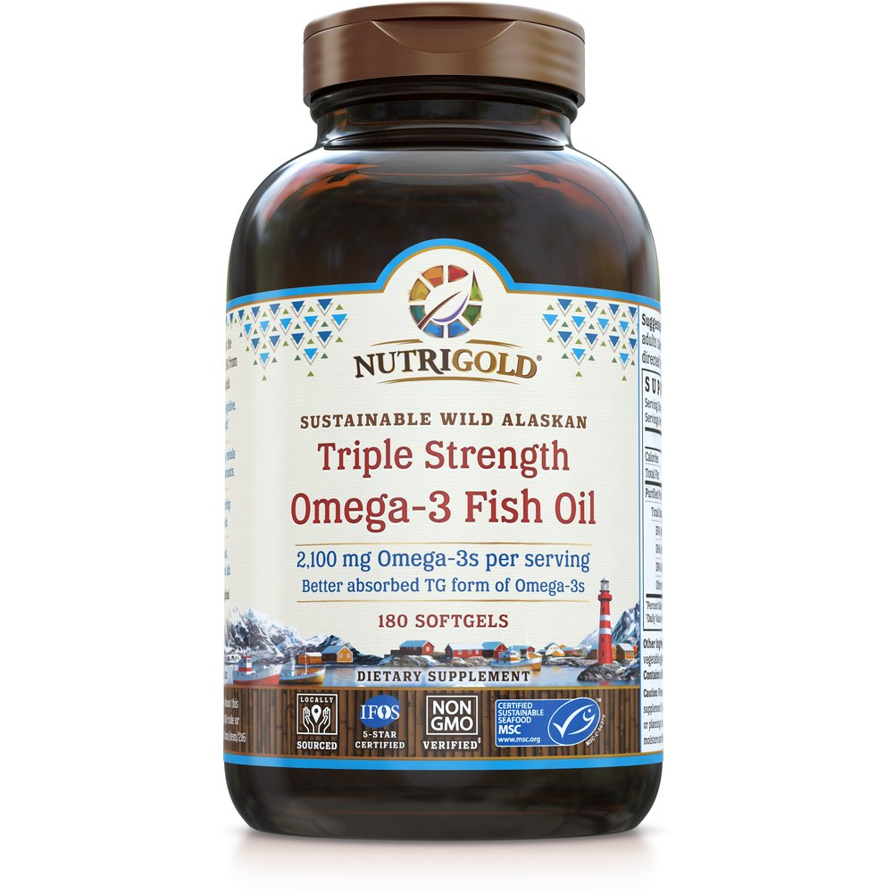 Triple Strength Omega-3 Fish Oil by NutriGold®