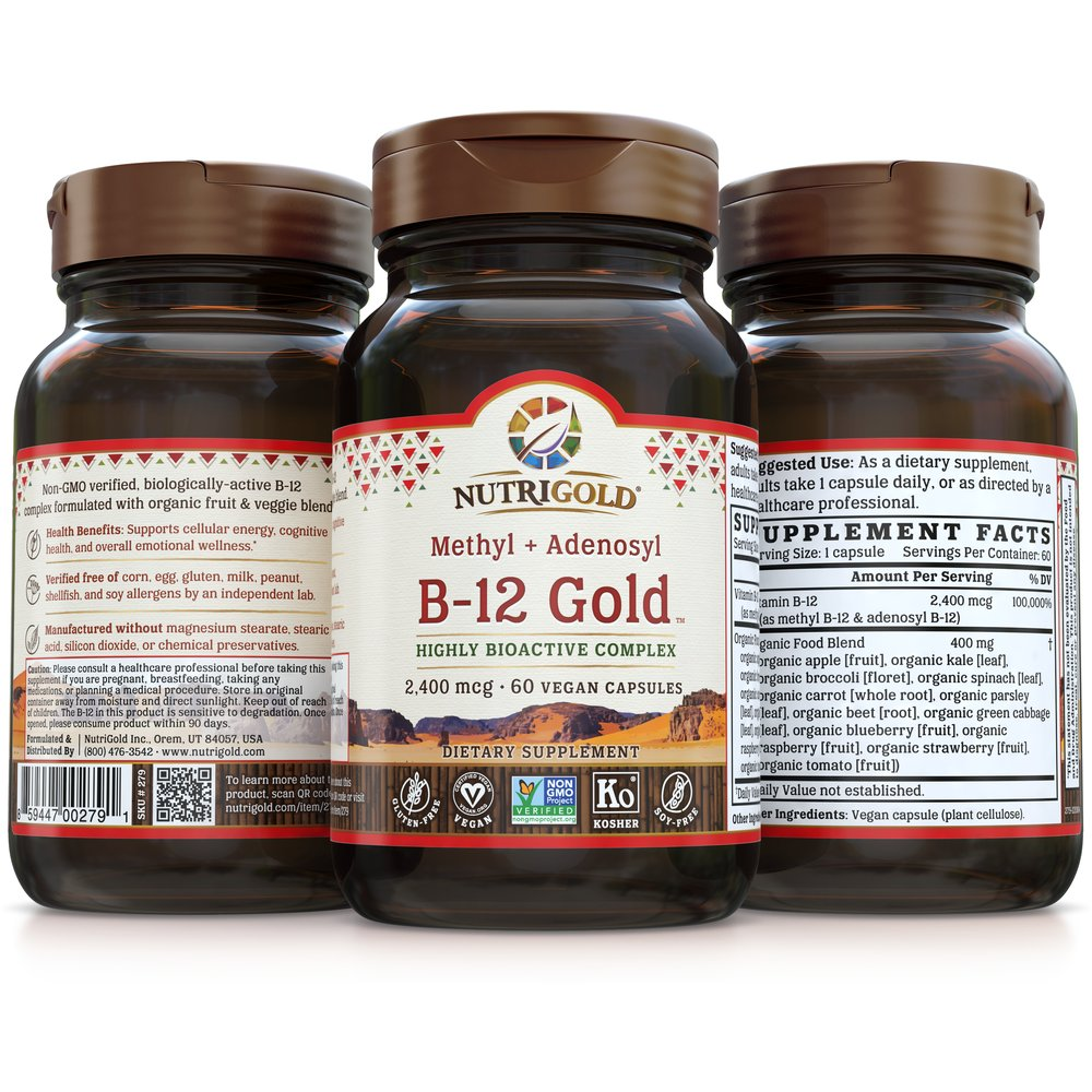 Vitamin B-12 Gold by NutriGold®