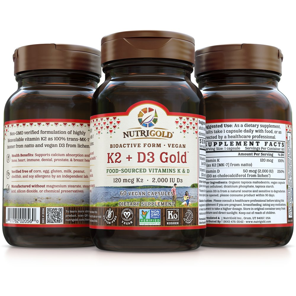 K2 + D3 Gold by NutriGold®