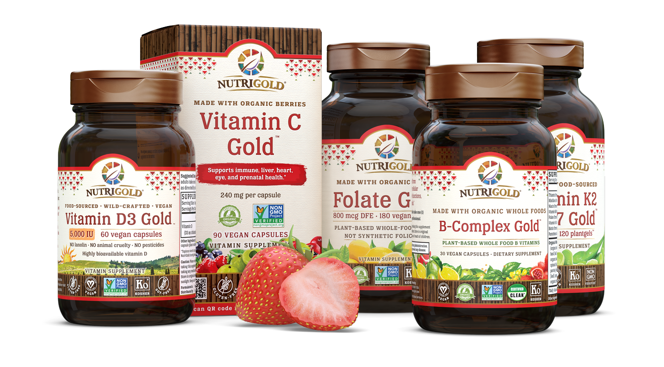 Nutrigold Triple Strength Omega-3 Gold Fish Oil with Double Strength Fish Oil.