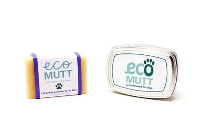 ECO MUTT DOG SHAMPOO BAR WITH SOAP TIN