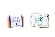 ECO MUTT Citronella, Lavender & Tea Tree DOG SHAMPOO BAR with Soap Tin