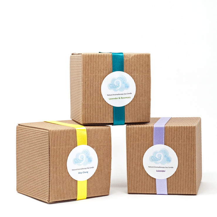 Trio of Aromatherapy Soy Candles
