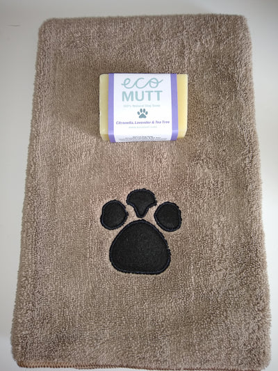 Dog Soap Bar & Pet Towel - Citronella, Lavender & Tea Tree