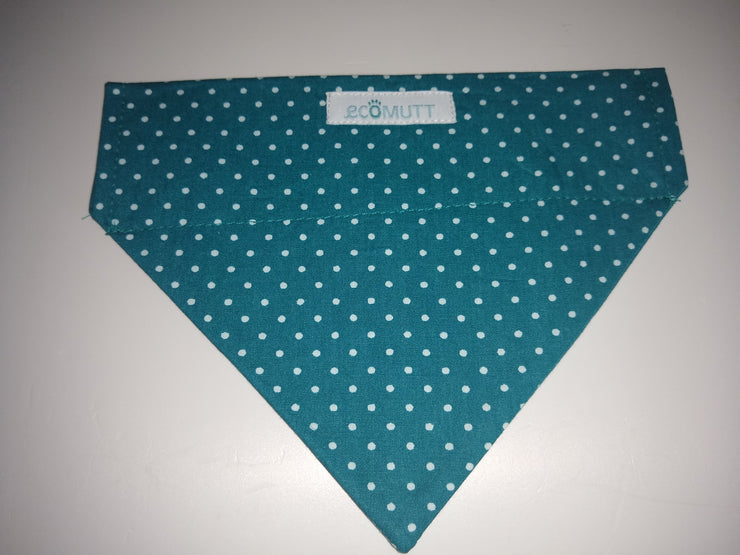 Teal with White Spots Bandana