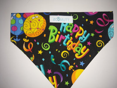 Eco Mutt Dog Bandana, Happy Birthday. Celebrate your puppy's birthday in style!