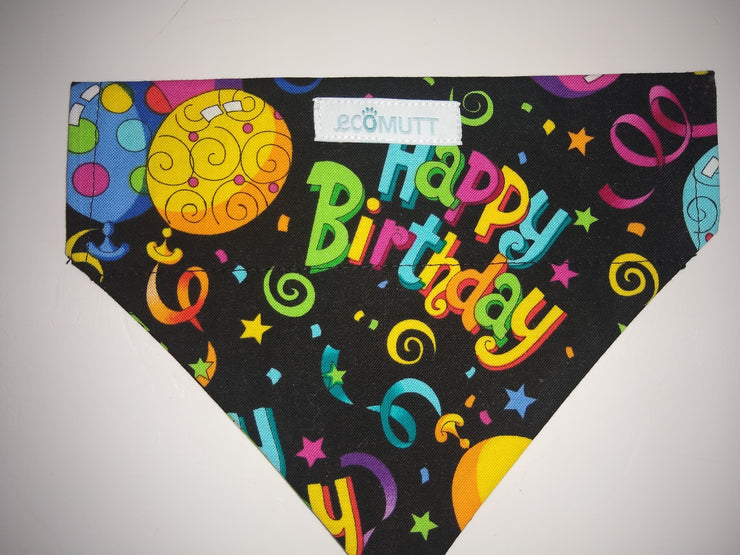 Eco Mutt Dog Bandana, Happy Birthday