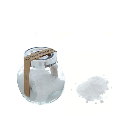 Lavender odour eliminator is a natural deodorant for the home. Use on any fabrics, carpets or bedding. Baking soda is the base ingredient and is commonly used as a natural ingredient to refresh items with unpleasant smells