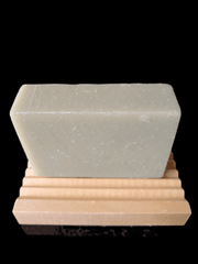 aromatherapy soap and wooden soap dish