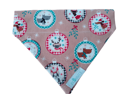 Christmas dogs in baubles Bandana