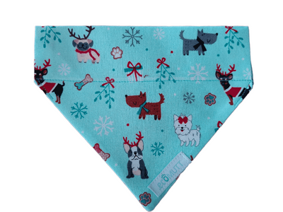 christmas cute dog bandana on white background