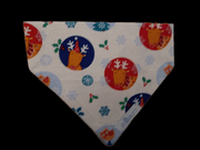 eco mutt christmas bandana colourful reindeer on white background