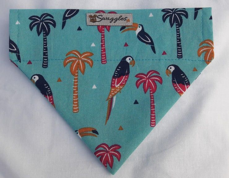 Tropical Parrots & Toucans Dog Bandana