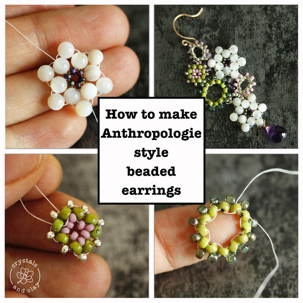 How to make Anthropologie style beaded earrings