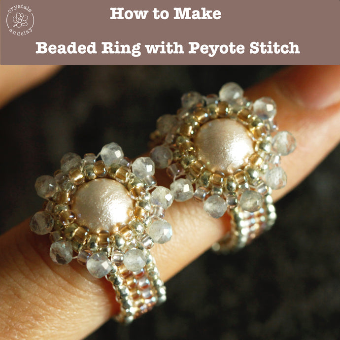 How to make a beaded ring with even count peyote