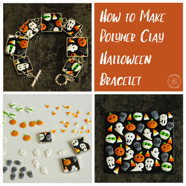 How to Make Polymer Clay Halloween Bracelet