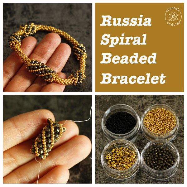 How to make a beaded spiral bracelet