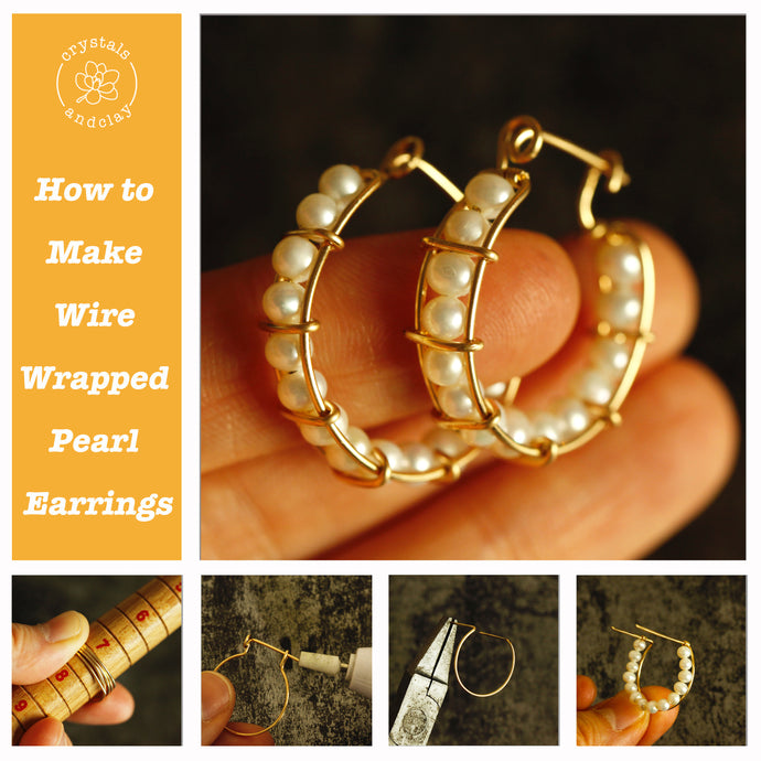 How to Make Wire Wrapped Pearl Earrings