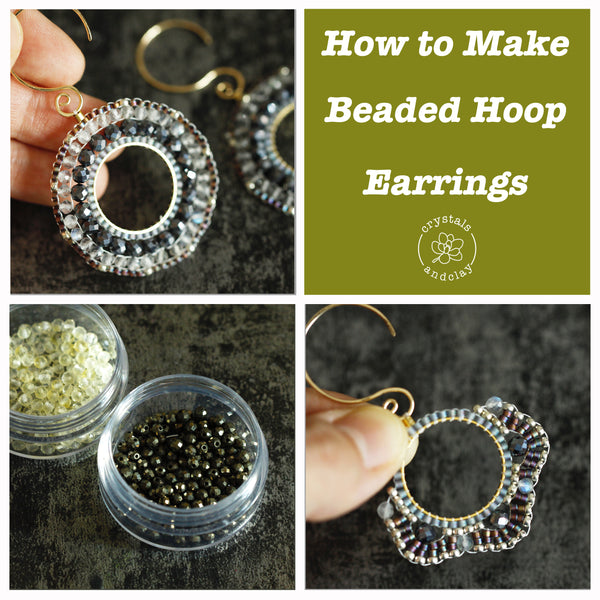 Jewelry making basics 8-- two earring designs using circular brick stitch