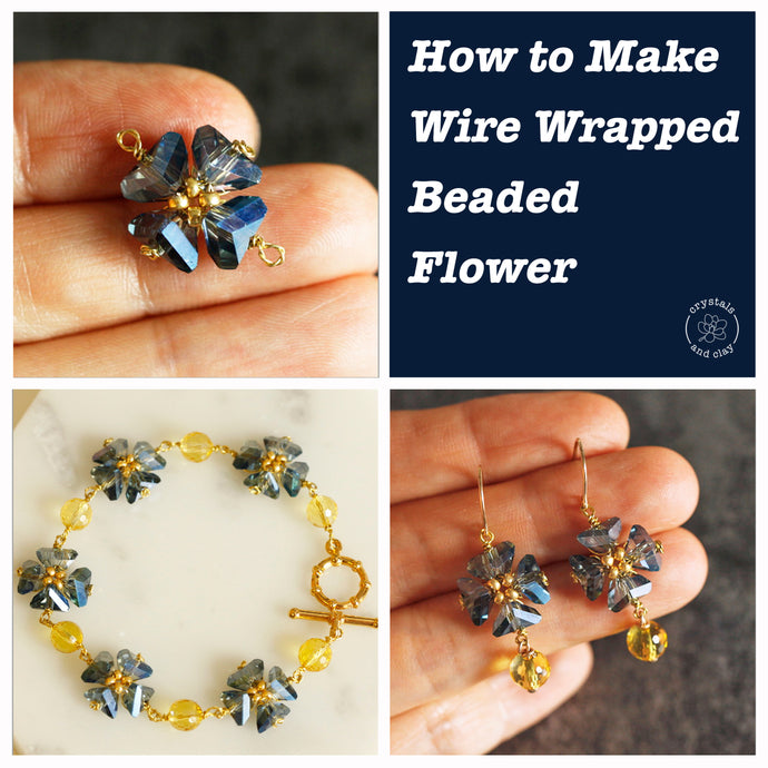 How to Make Wire Wrapped Flower using Triangle Beads