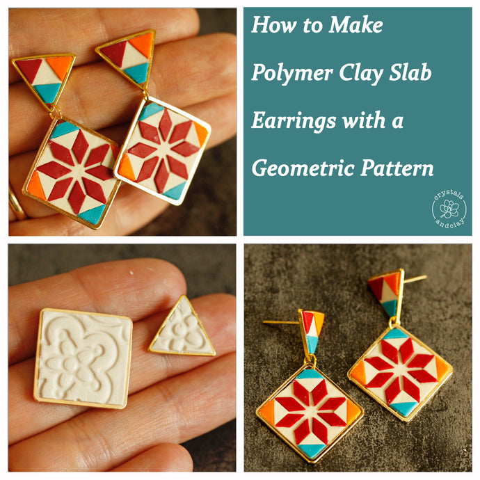How to Make Polymer Slab Earrings with a Geometric Pattern