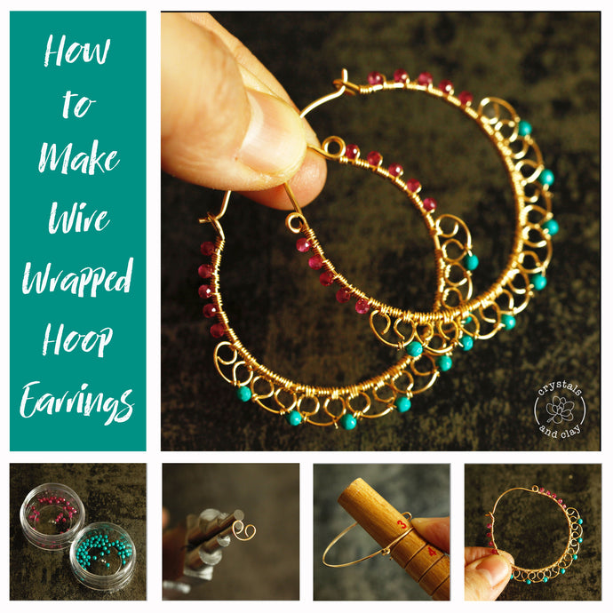 How to make wire wrapped hoop earrings