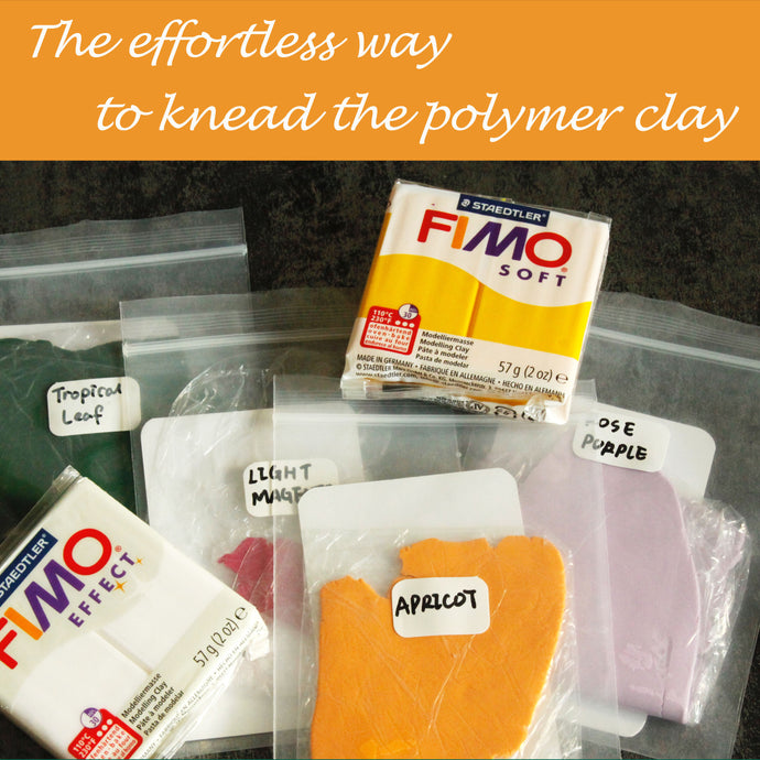 The Easiest Way to Knead Polymer Clay