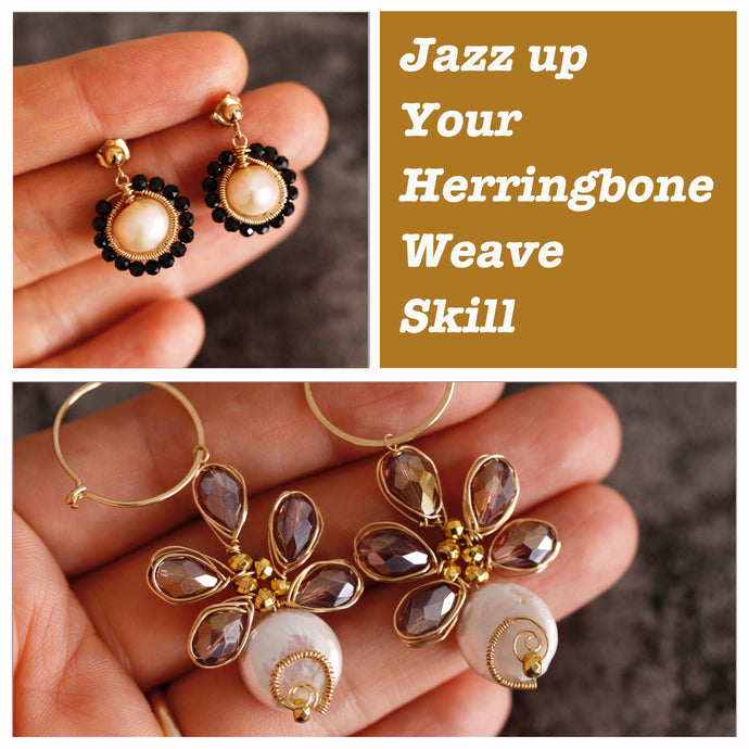 Jazz up your Herringbone Weave Skill with Two Earring Designs