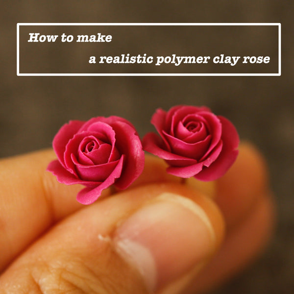 How to make a realistic polymer clay rose