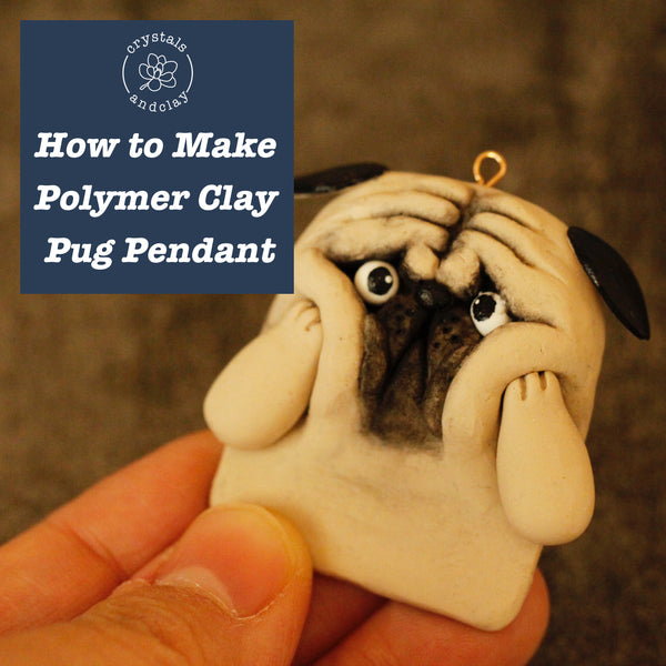 How to make a polymer clay dog pendant (video included)