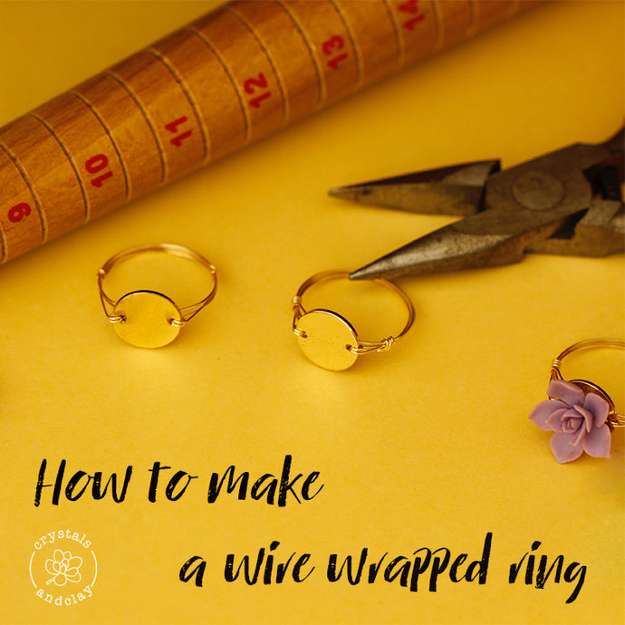 Jewelry Making Basics 3 – How to make a wire wrapped ring