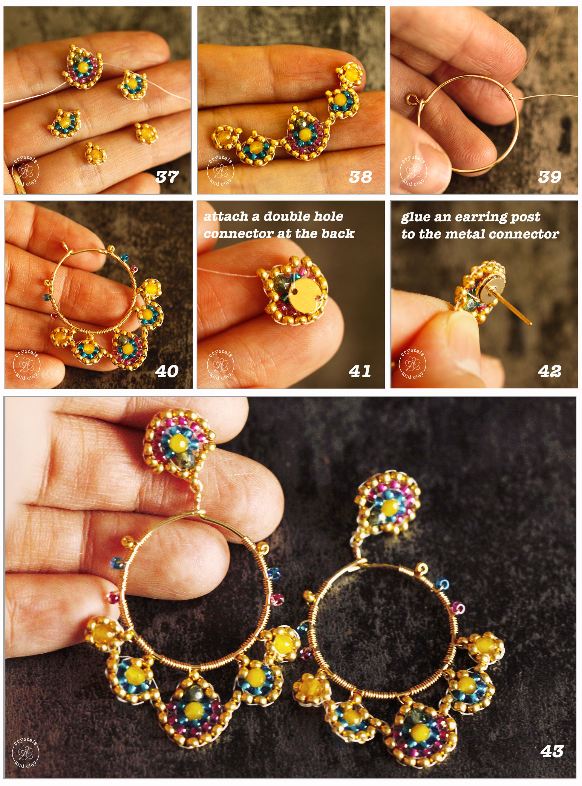 how to assemble beaded earrings