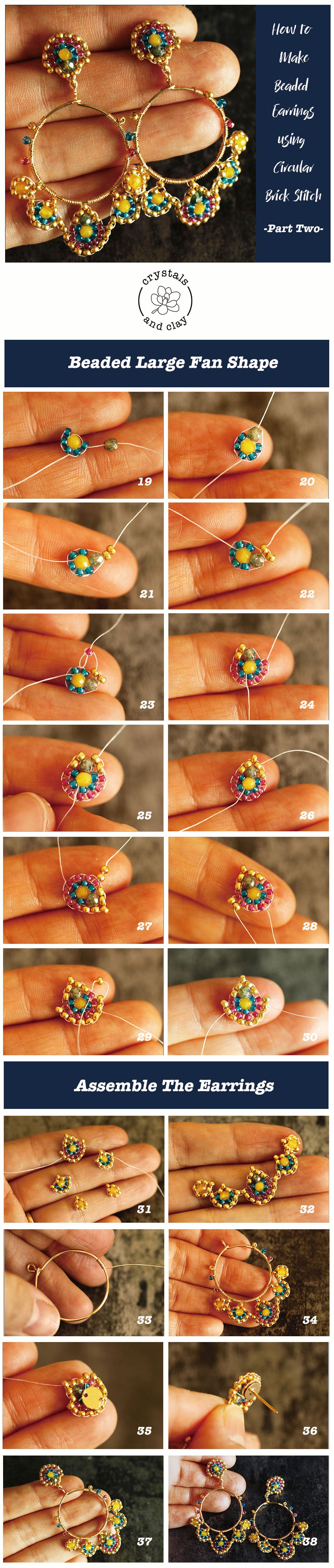 how to make beaded earrings using circular brick stitch