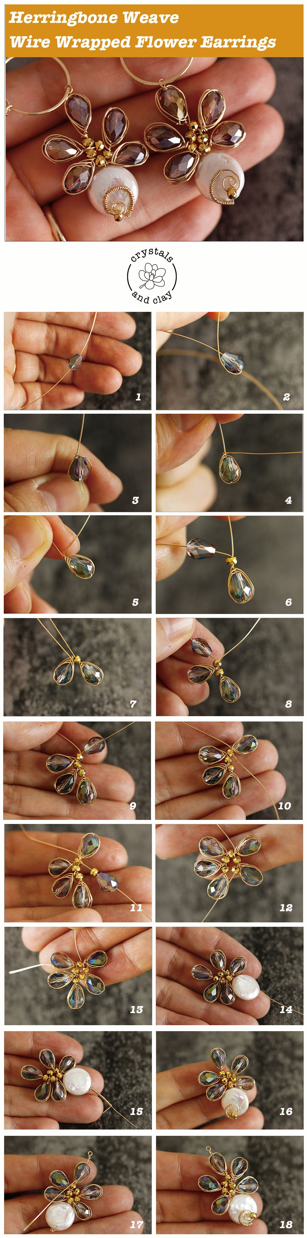 beaded flower earrings tutorial
