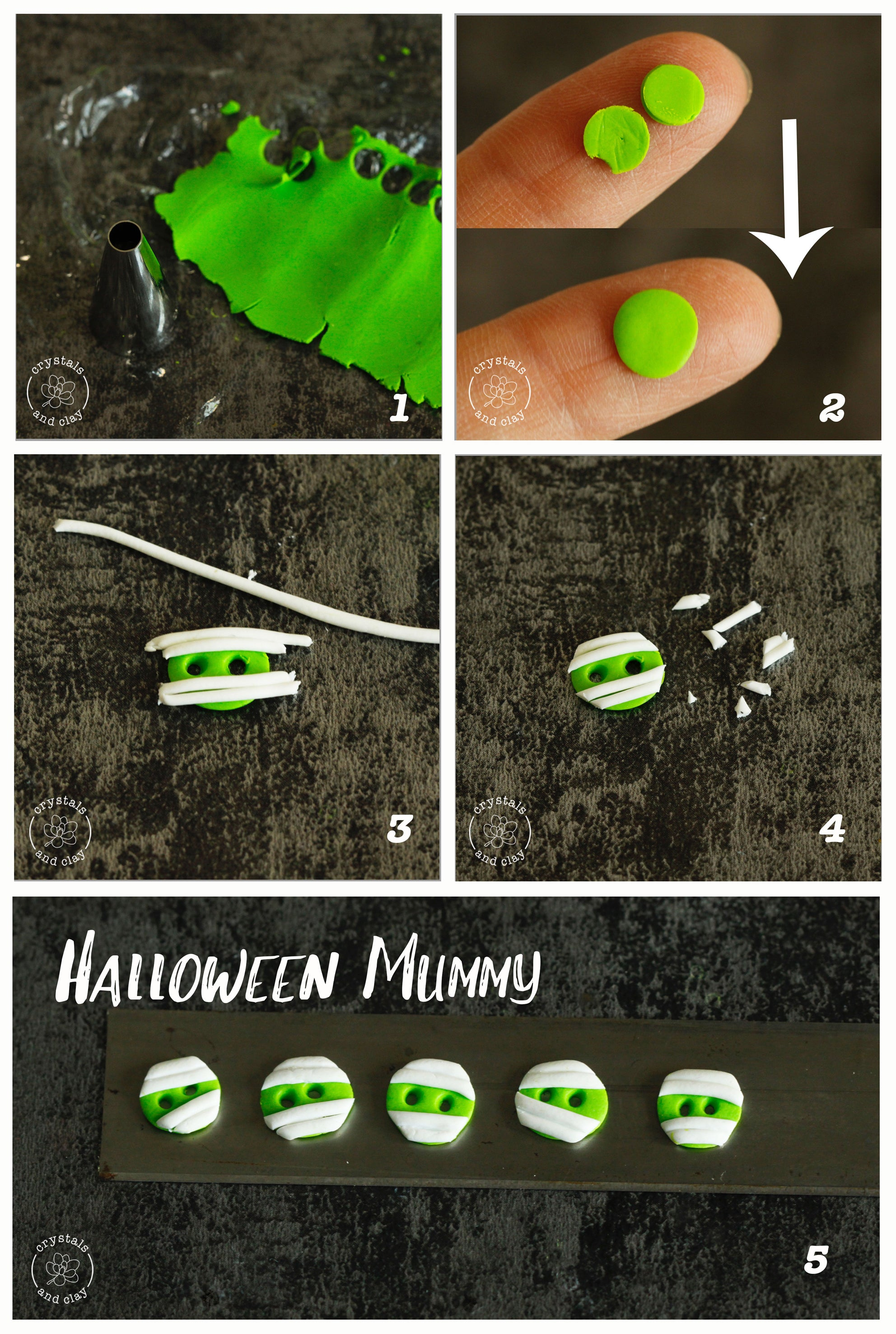 how to make polymer clay mummy