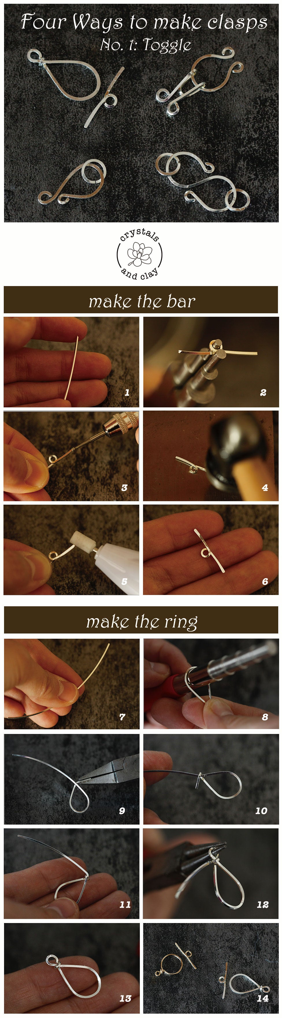 how to make wire wrap clasps