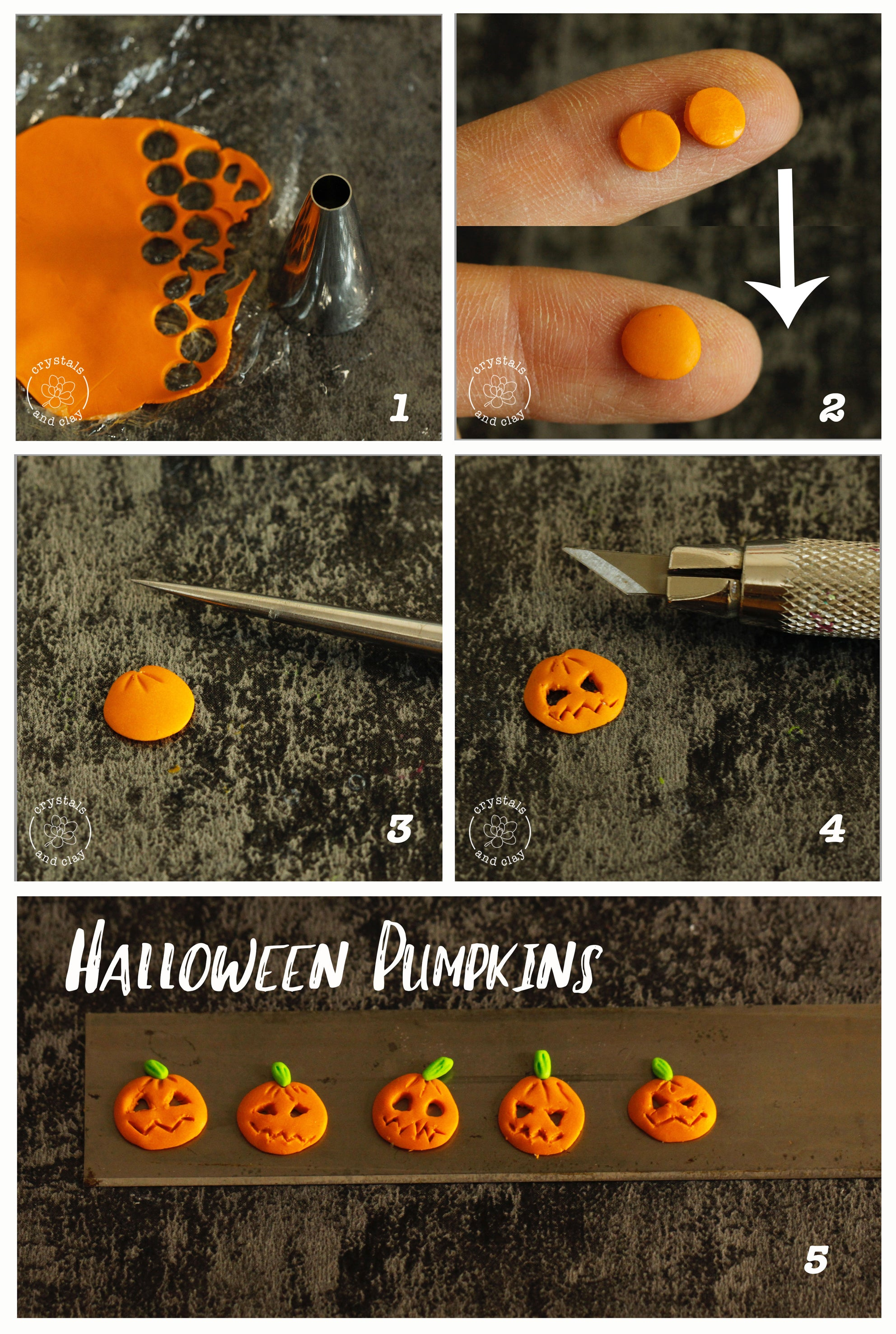how to make polymer clay pumpkin