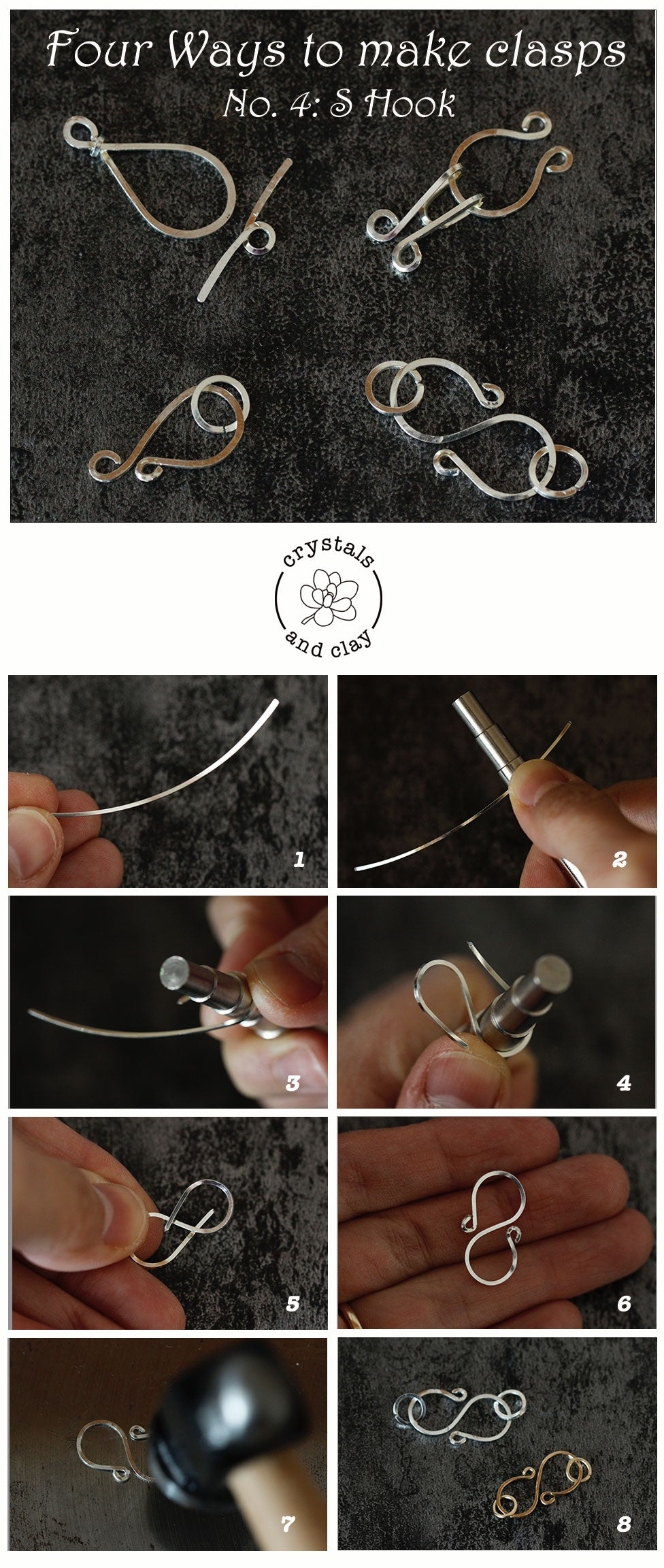 how to make wire wrapped clasps
