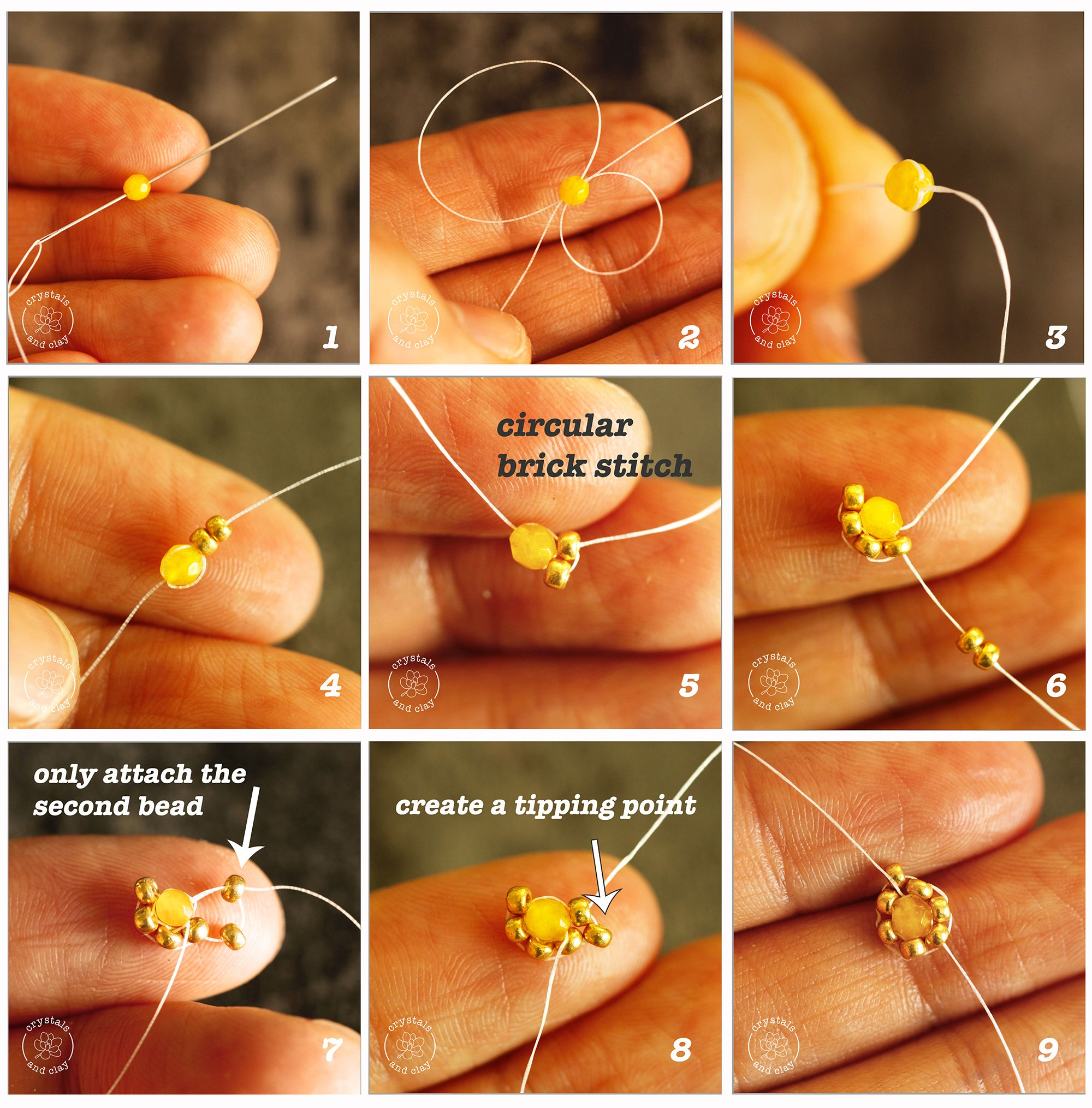 how to make a beaded teardrop shape