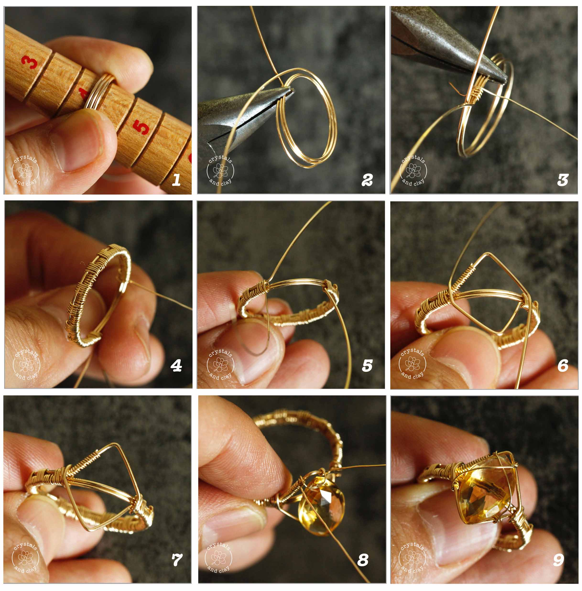 how to make wire wrapped ring