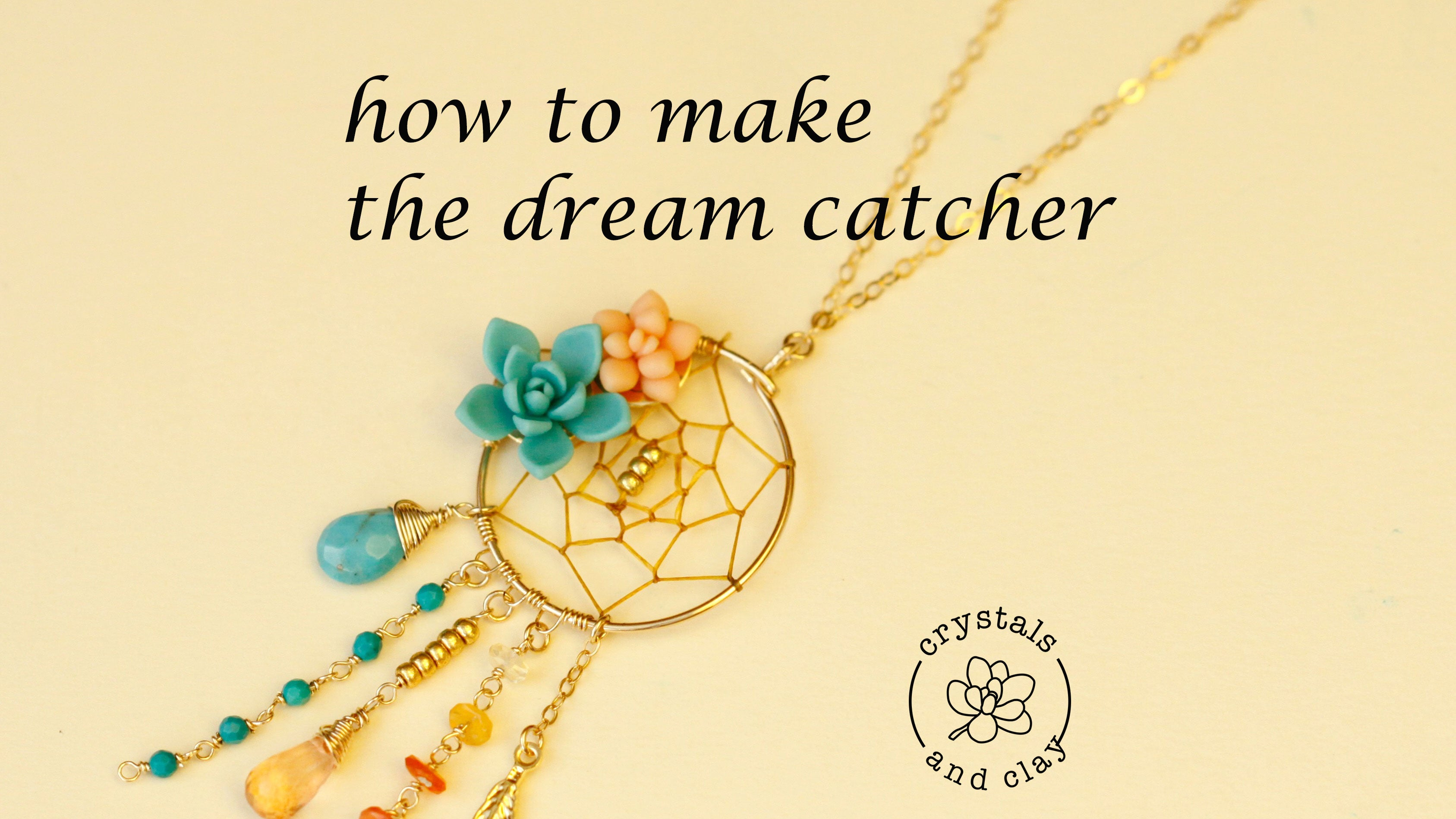 how to make a dreamcatcher necklace