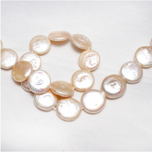 Load image into Gallery viewer, 12-13mm 15inch Strand Cultured Freshwater Coin Pearl Beads
