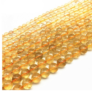 4/6/8/10/12/14mm 14.9inch Natural Citrine Crystal Round Beads
