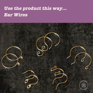 30/26/22/20gauge (0.25/0.41/0.64/0.8mm) Half Hard 14k Gold Filled Wire