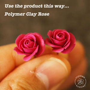 Rose Flower Petals Embossed Silicone Mold for Polymer Clay