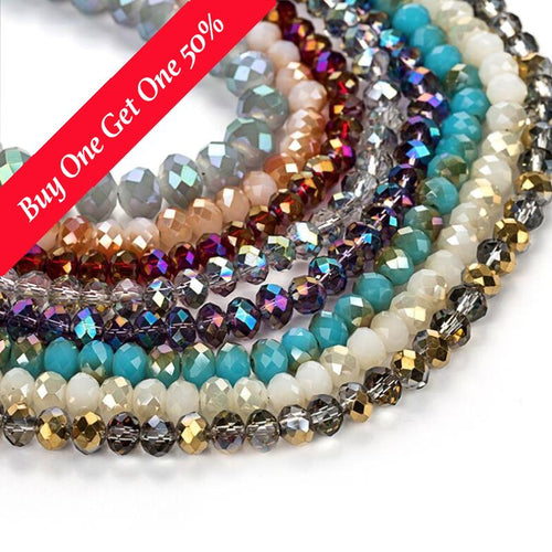 2/4/6/8mm Czech Glass Crystal Beads (24 Colors)