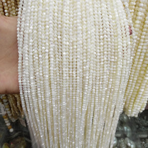 2/3/4/6/8/9/10mm 15.5inch Strand Natural White Shell Beads