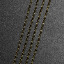 Load image into Gallery viewer, 5/10m Silver/Gold/Bronze Color Plated Necklace Chains