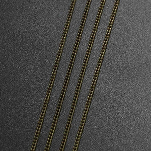 5/10m Silver/Gold/Bronze Color Plated Necklace Chains